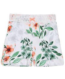 FS Mini Klub Knit Floral Print Shorts - White