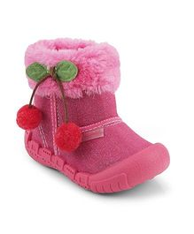 Kittens Shoes Casual Canvas Shoes With Cherry Appliques - Pink