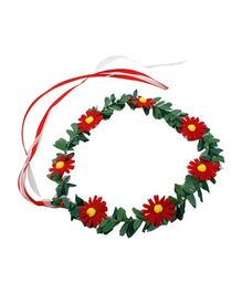 Partymanao Floral Tiara Sunflower Red - 16 cm