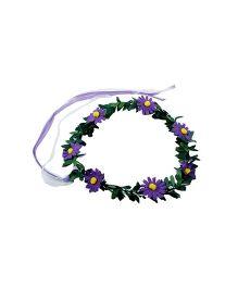 Partymanao Floral Tiara Sunflower Purple - 16 cm
