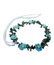 Partymanao Floral Tiara Sunflower Blue - 16 cm