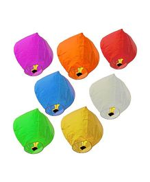 Partymanao Multicolor Paper Sky Lantern - Multi Color