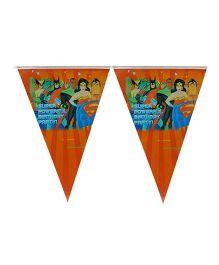 Partymanao Super Powerful Birthday Party Flag Banner - Orange