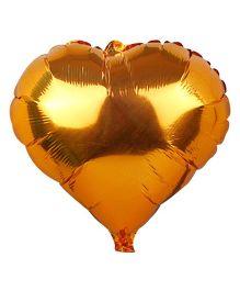 Partymanao Heart Shaped Foil Balloon Golden - 18 cm
