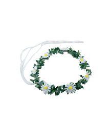 Partymanao Floral Tiara Sunflower White - 16 cm