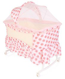 Baby Cradle Flower Printed - Pink