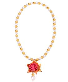Miss Diva Traditional Star Flower Necklace - Bright Pink