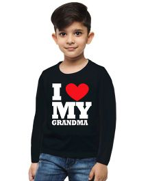 M'andy I Love My Grandma Boys T-Shirt - Black