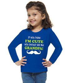 M'andy Cute Grandpa Girls T-Shirt - Blue