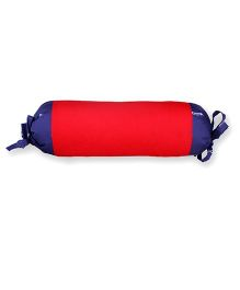HouseThis Dual-Tone Bolster - Red & Blue