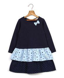 Beebay Dot & Star Layered Dress - Navy