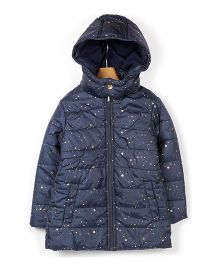 Beebay Full Sleeves Jacket Star Print - Navy