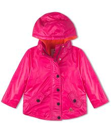 Cherry Crumble California Lightweight Fleece Line Field Jacket For Boys & Girls - Pink