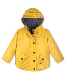 Cherry Crumble California Lightweight Fleece Line Field Jacket For Boys & Girls - Yellow
