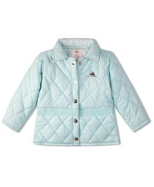 Cherry Crumble California Premiuim Short Trench Jacket For Boys & Girls - Blue