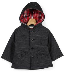 Beebay Twill Hooded Corduroy Jacket - Black