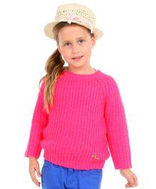 Cherry Crumble California Soft Cozy Premium Sweater For Girls - Pink
