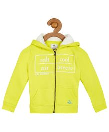 Cherry Crumble California Soft Fleece Hoodie With Sherpa For Boys & Girls - Yellow
