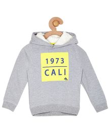 Cherry Crumble California Soft Fleece Hoodie With Sherpa For Boys & Girls - Grey
