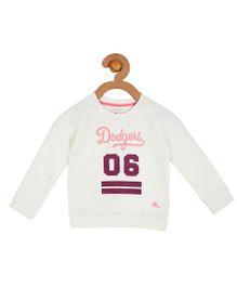 Cherry Crumble California Premium Soft Fleece Sweatshirt For Boys & Girls - White