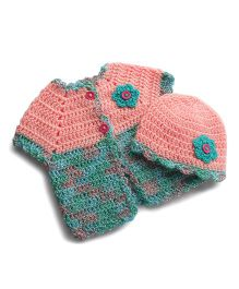 Dollops Of Sunshine Sweetpea Sweater & Hat Set - Pink & Blue