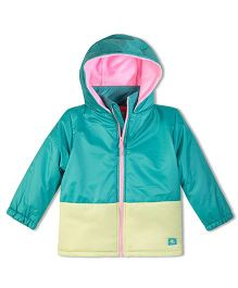 Cherry Crumble California Soft Fleece Lined Puffer Jacket For Boys & Girls - Blue