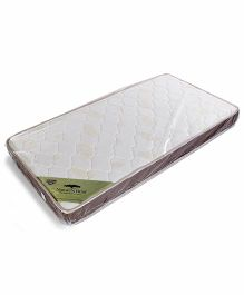 Spring Air Natures Rest Foam Mattress Leaf Print - Off White