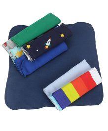 Ben Benny Multi Print Wash Cloths Multicolor - Pack of 8