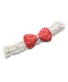 Princess Cart Bowknot Polka Dot Headband - Red