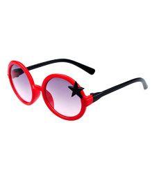 Princess Cart Round Sunglasses - Red