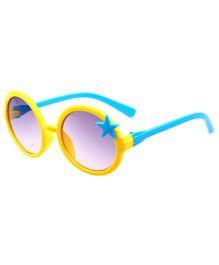 Princess Cart Round Sunglasses - Yellow