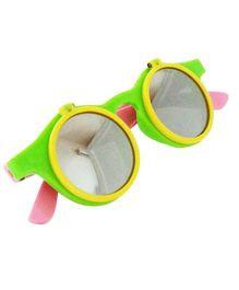 Princess Cart Flip Round Sunglasses - Yellow