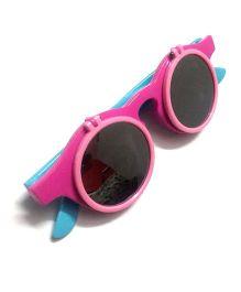 Princess Cart Flip Round Sunglasses - Pink