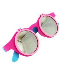 Princess Cart Flip Round Sunglasses - Baby Pink