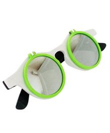 Princess Cart Flip Round Sunglasses - Green
