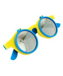 Princess Cart Flip Round Sunglasses - Blue