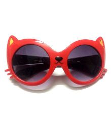 Princess Cart Cat Anti UV Sunglasses - Red