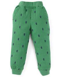 Jash Kids Full Length Printed Track Pant - Green