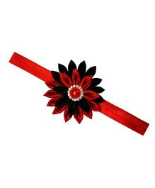 Little Miss Cuttie Floral Headband -  Red