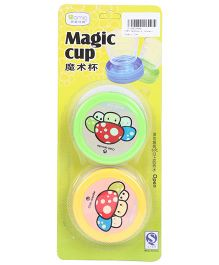 Magic Cups Pack Of 2 - Yellow &  Blue