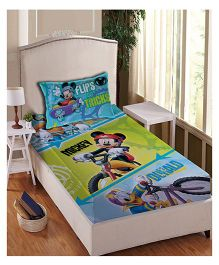 Disney Anthom Trendz Single Bed Sheet With Pillow Cover Set Mickey Mouse Print - Multi Color DIS-04-144-S