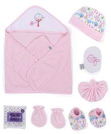 Mee Mee Clothing Gift Set Bird Print Pack Of 8 - Pink