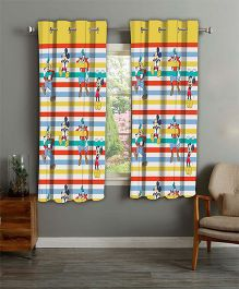 Disney Athom Trendz Window Curtain Mickey Mouse Print - Multi Color MIC-401-WC1