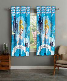 Disney Athom Trendz Window Curtain Cinderella Print - Blue
