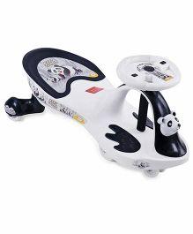Babyhug Baby Panda Gyro Swing Car - White Black