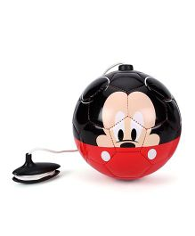 Disney Mickey Mouse And Friends PVC Funny Training Ball - Black & Red