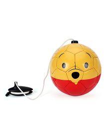 Disney Winnie The Pooh PVC Funny Training Ball - Yellow & Red