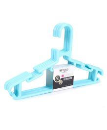Plastic Hangers Aqua Blue - Pack Of 5