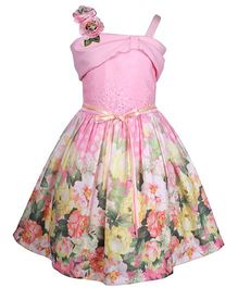 Cutecumber Singlet Floral Dress - Pink
