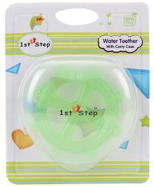 1st Step Water Teether With Case - Green